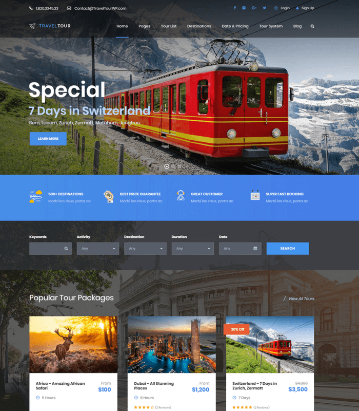 travel-tour WordPress theme