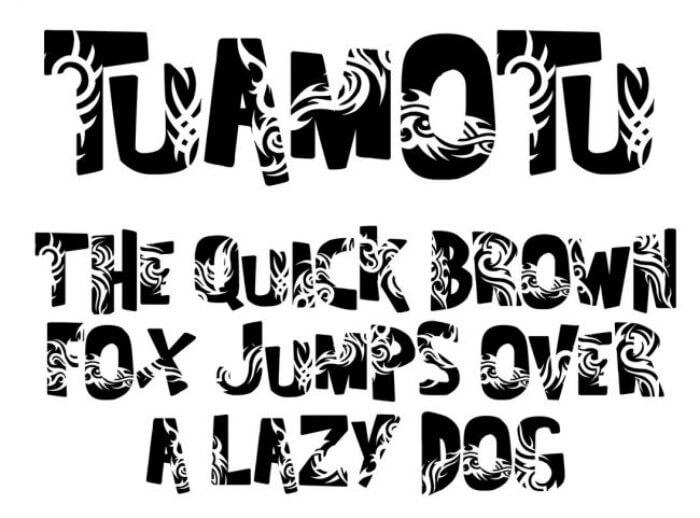 taumotu tattoo font