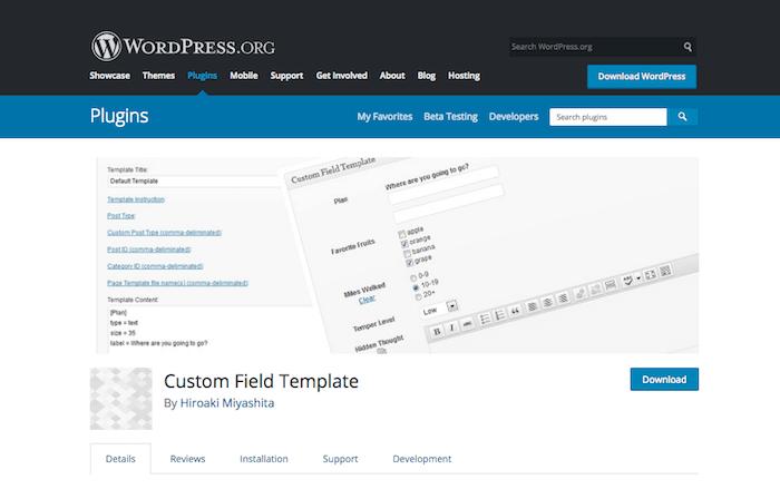 Custom Field Template