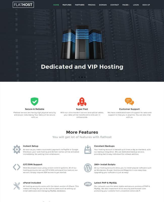 FlatHost-WordPress-Flat-Hosting-Theme