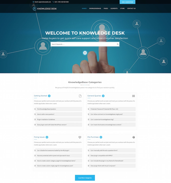 Knowledgedesk WordPress Theme