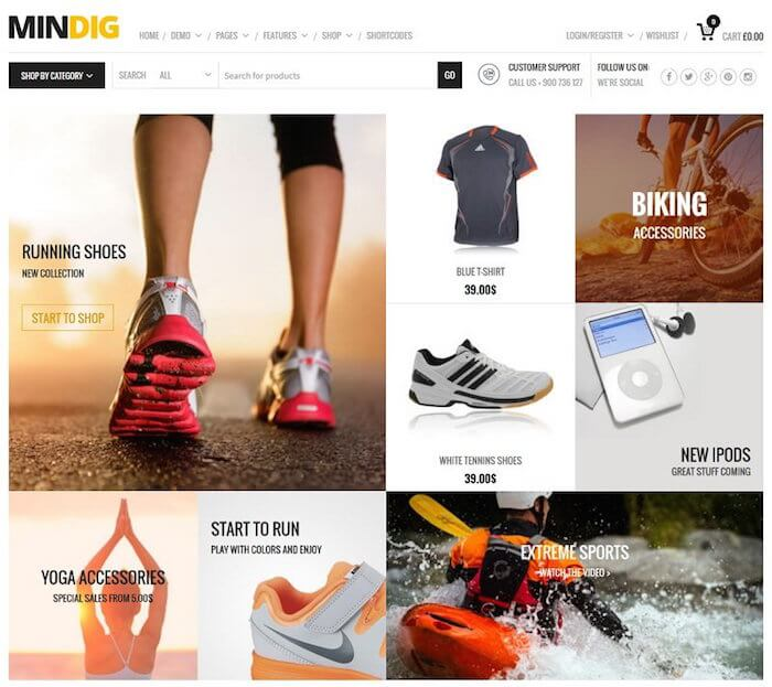 Mindig WordPress Theme
