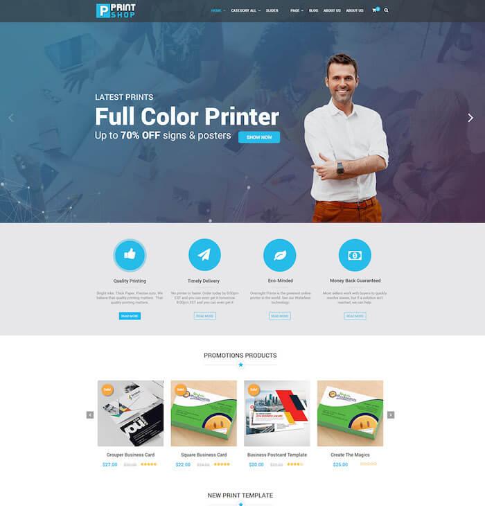 Printshop WordPress Theme