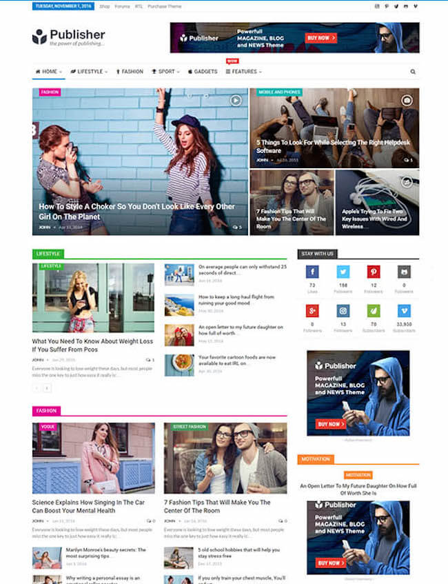 Publisher-WordPress-Theme