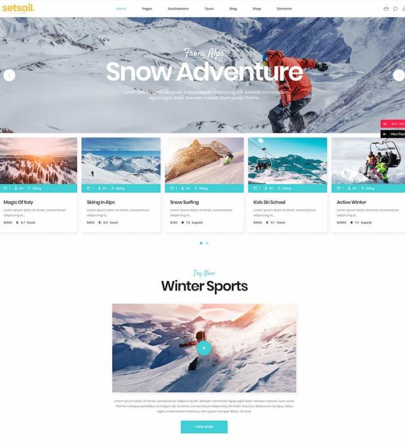 SetSail - Travel Agency Theme