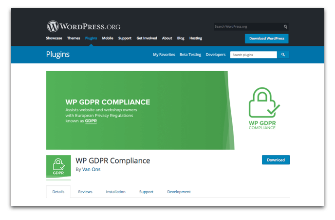 WordPress GDPR Plugin