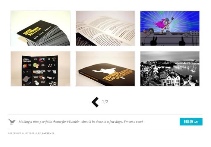 litefolio Tumblr theme