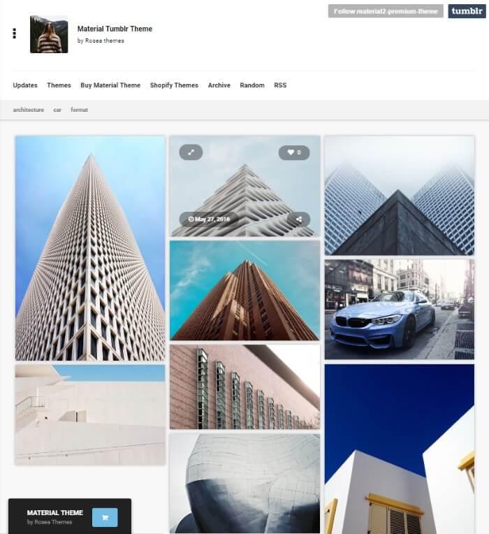 material Tumblr theme