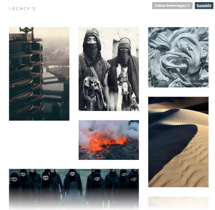 legacy Tumblr theme