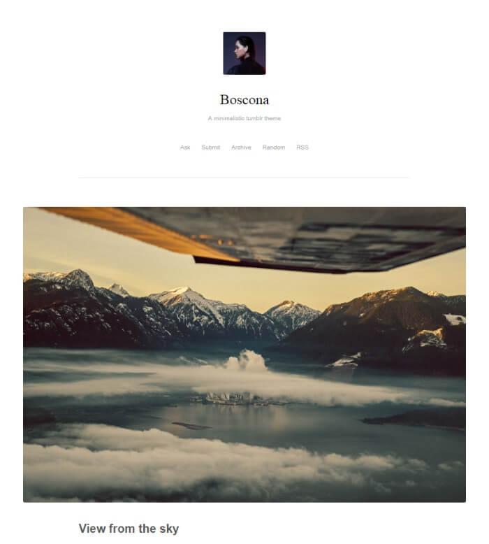 boscona tumblr theme