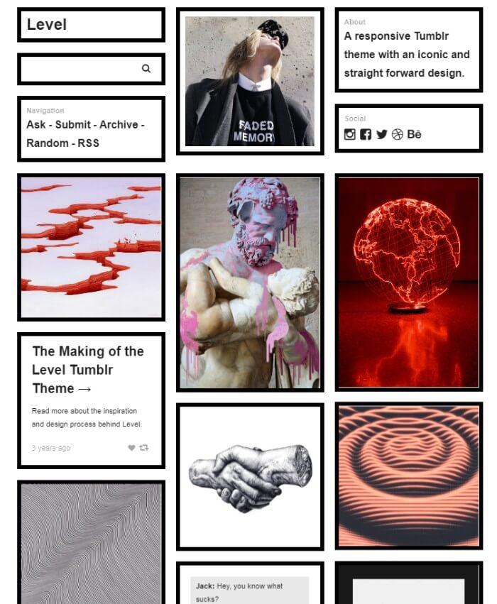Level Tumblr Theme