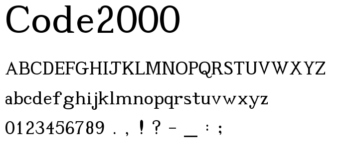Code 2000