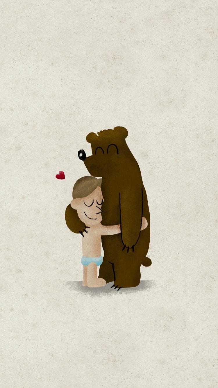 Hug iPhone Wallpaper