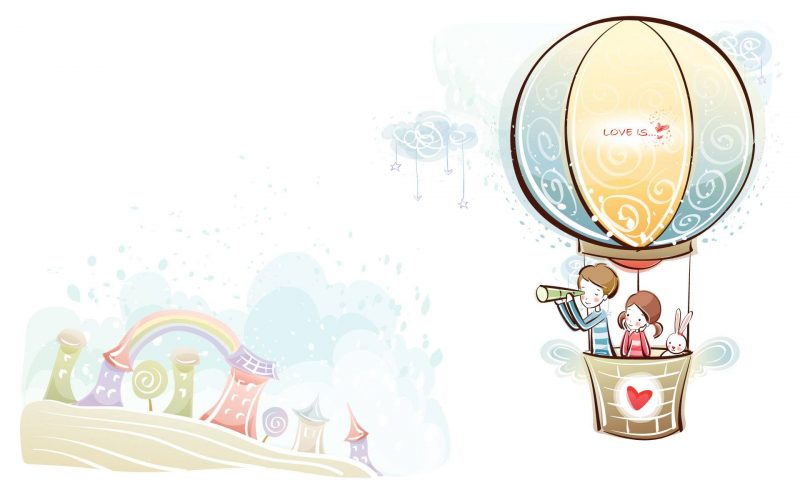 Love Parachute Wallpaper