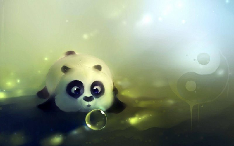 Panda And The Pearl Wallpaper