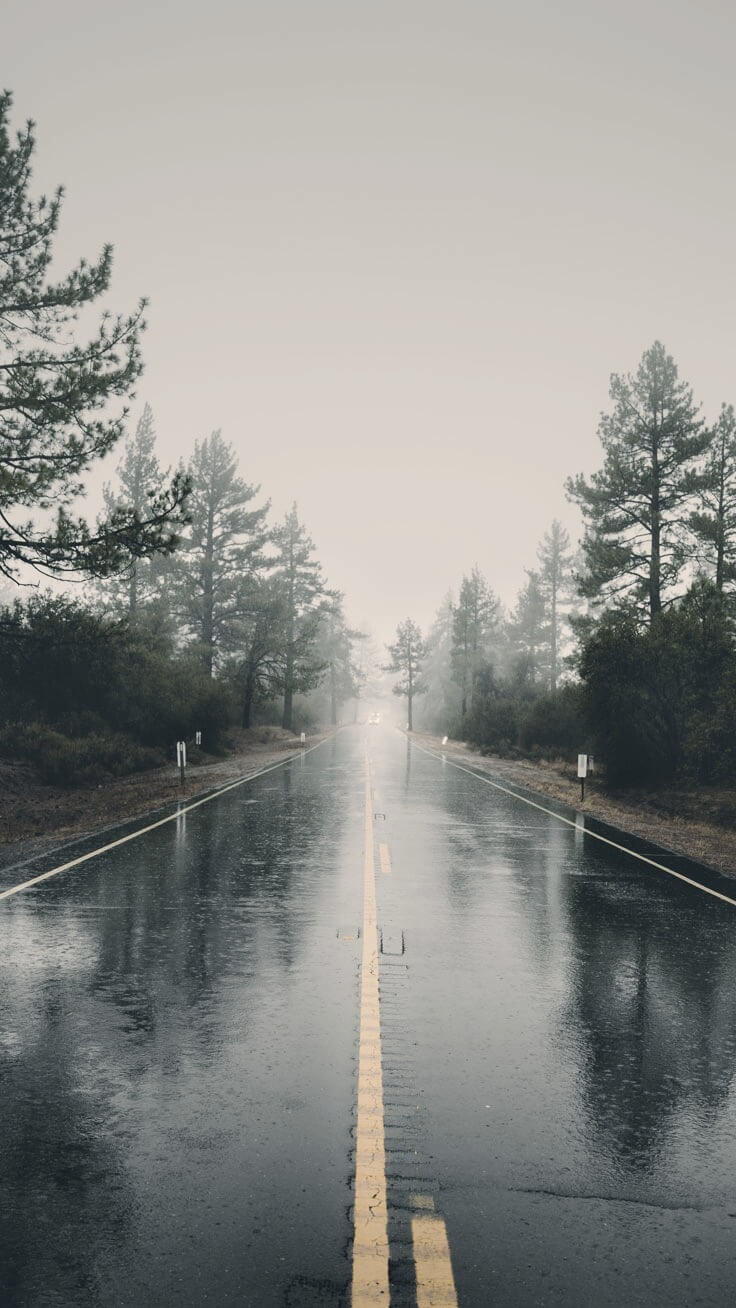 Beautiful Road background for iPhone