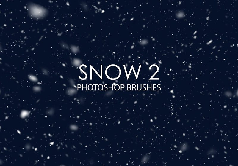 Snow Photoshop Brushes 2