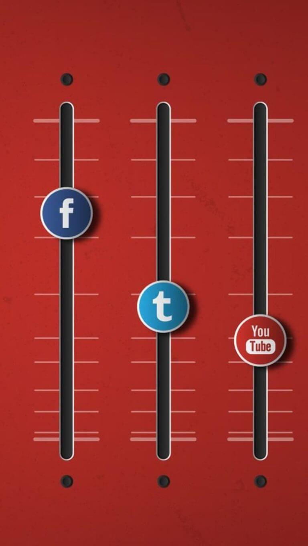 Social Networks Equalizer On Wallpaper
