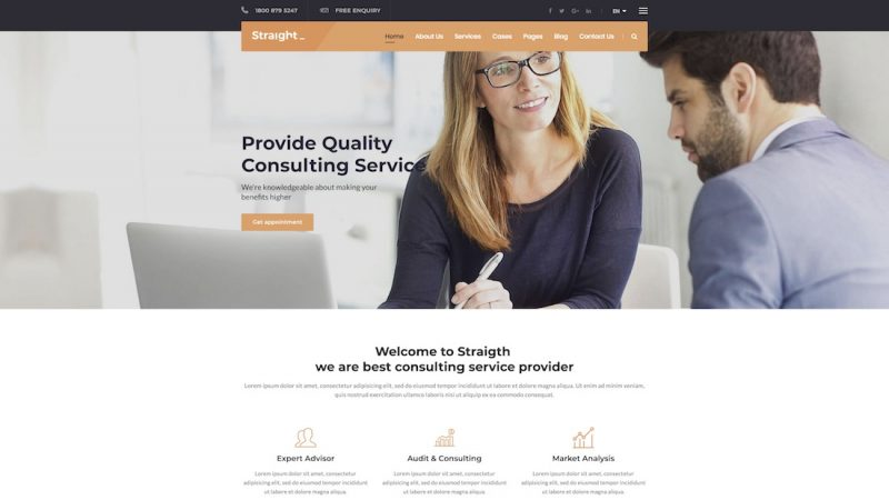 Straight HTML Template