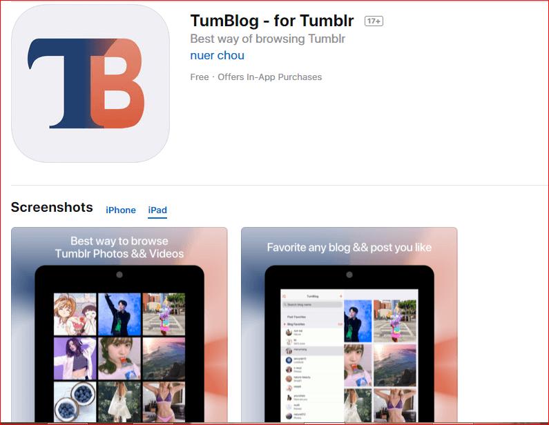 Tumblog App