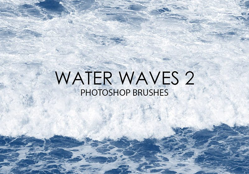 Water Waves Photoshop Brushes 2