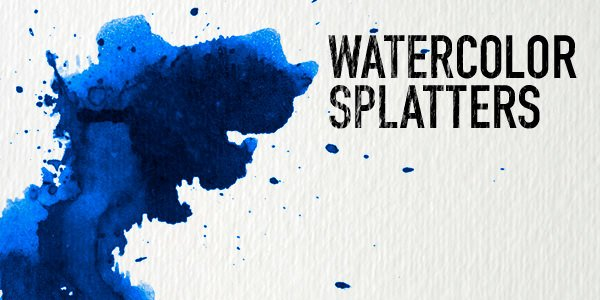 Watercolour Splatters