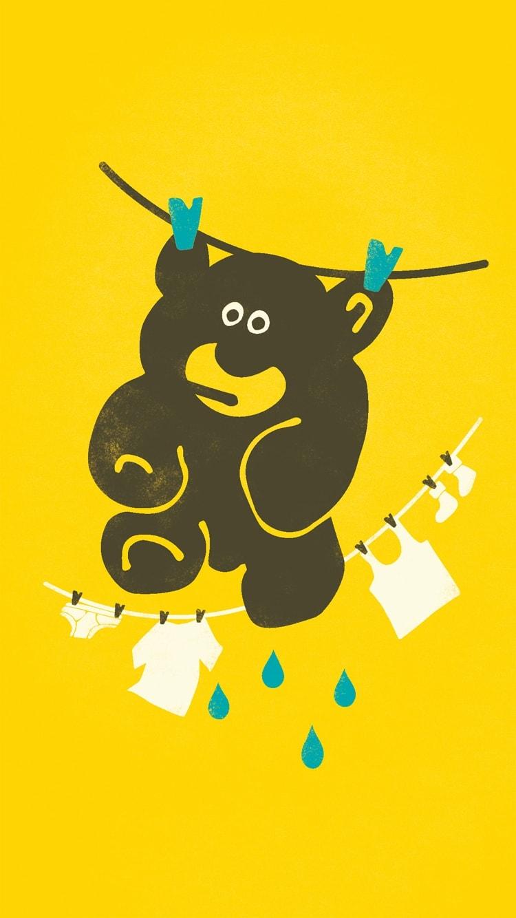 Wet Teddy Wallpaper