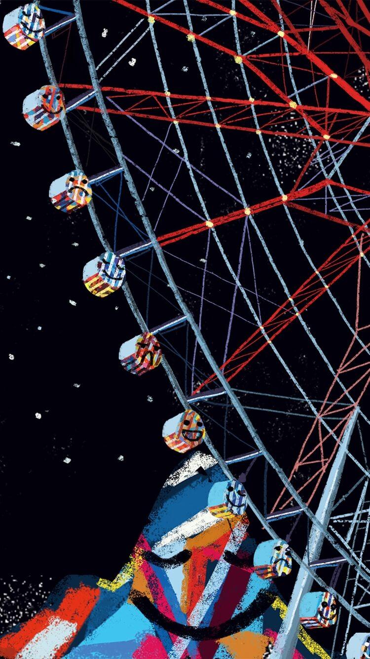 Ferris Wheel Night Wallpaper