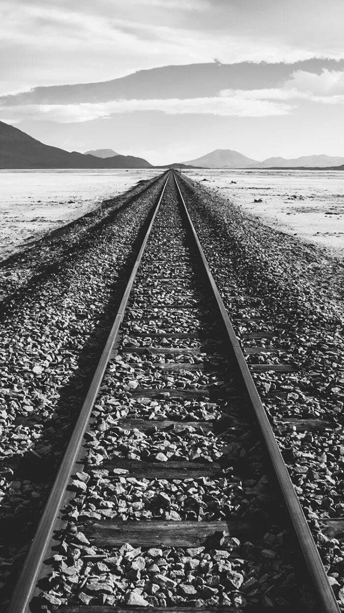 Railway Track iPhone Background