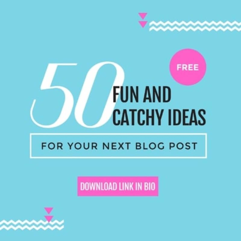 50 Fun and Catchy Ideas for Your Next Blog Post