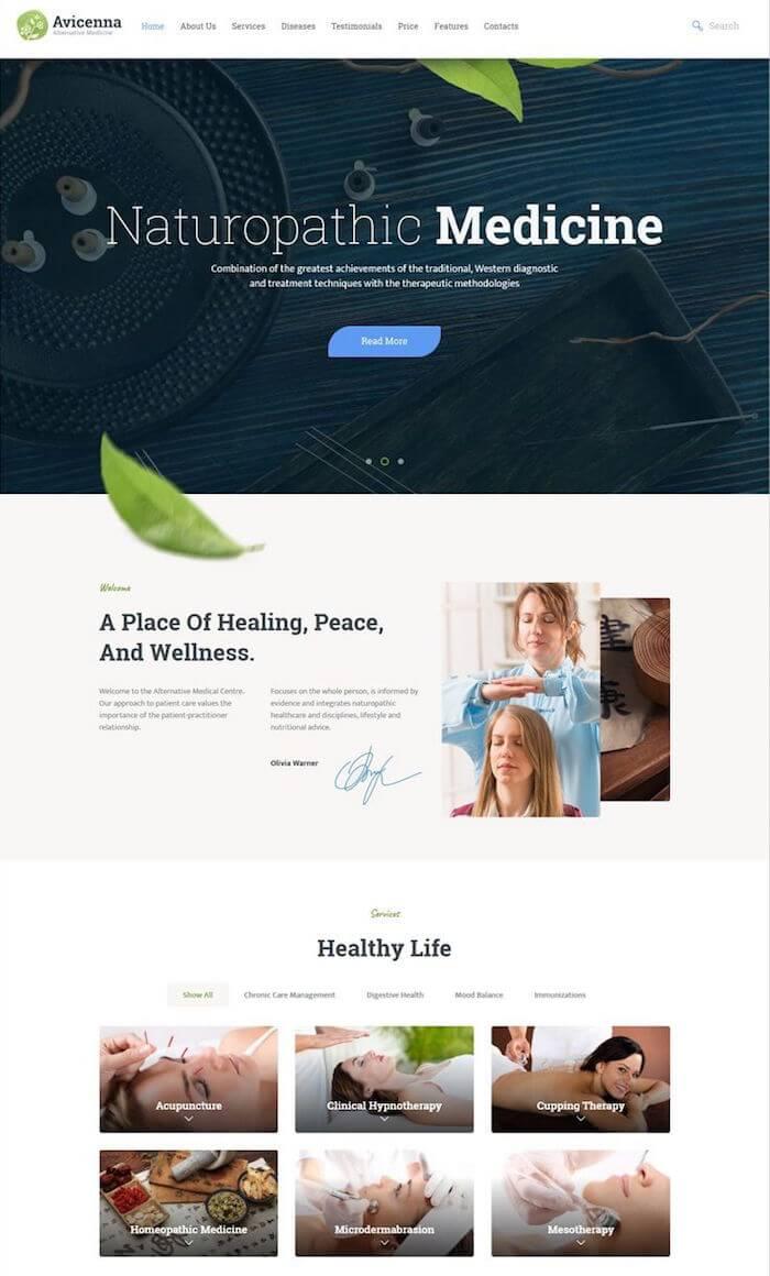 Avicenna Alternative Medicine WordPress Theme