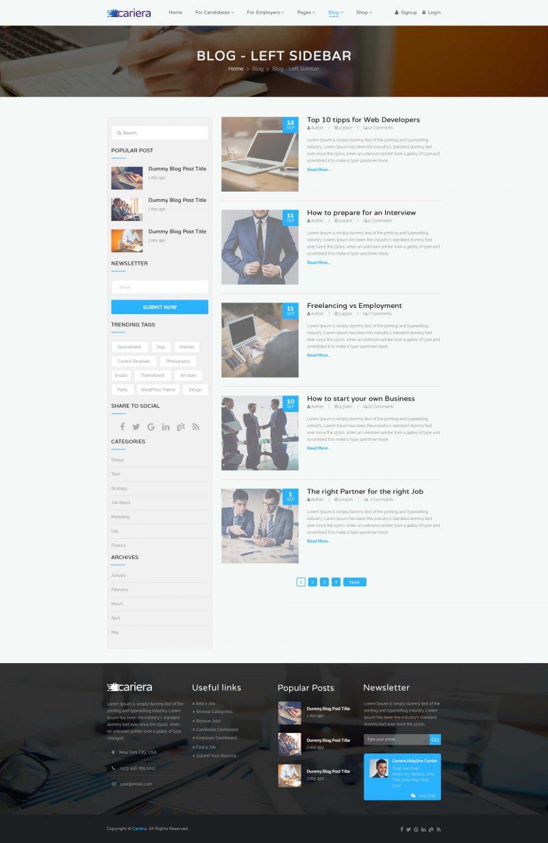 Cariera WordPress Theme