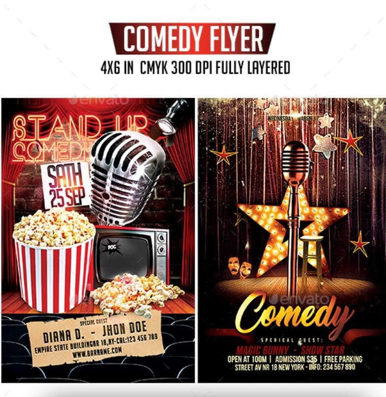 Comedy Flyer Bundle