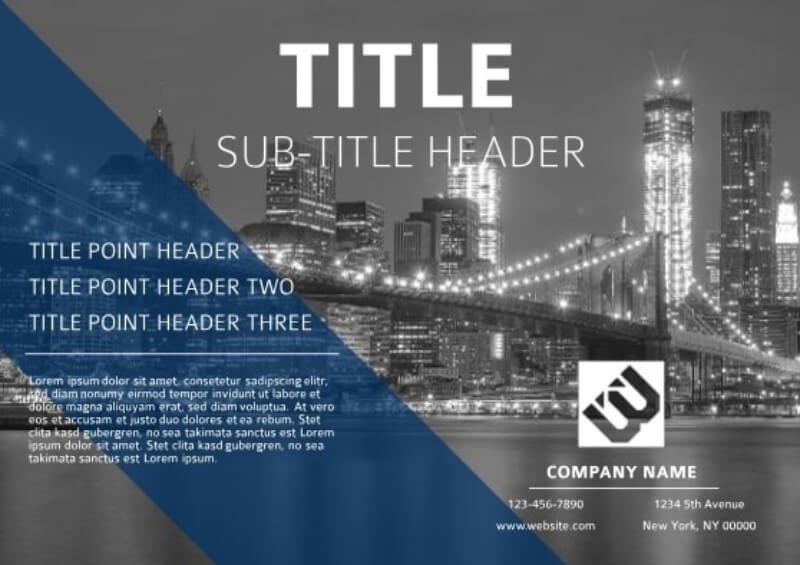 Cut Glass Digital Corporate Flyer Template