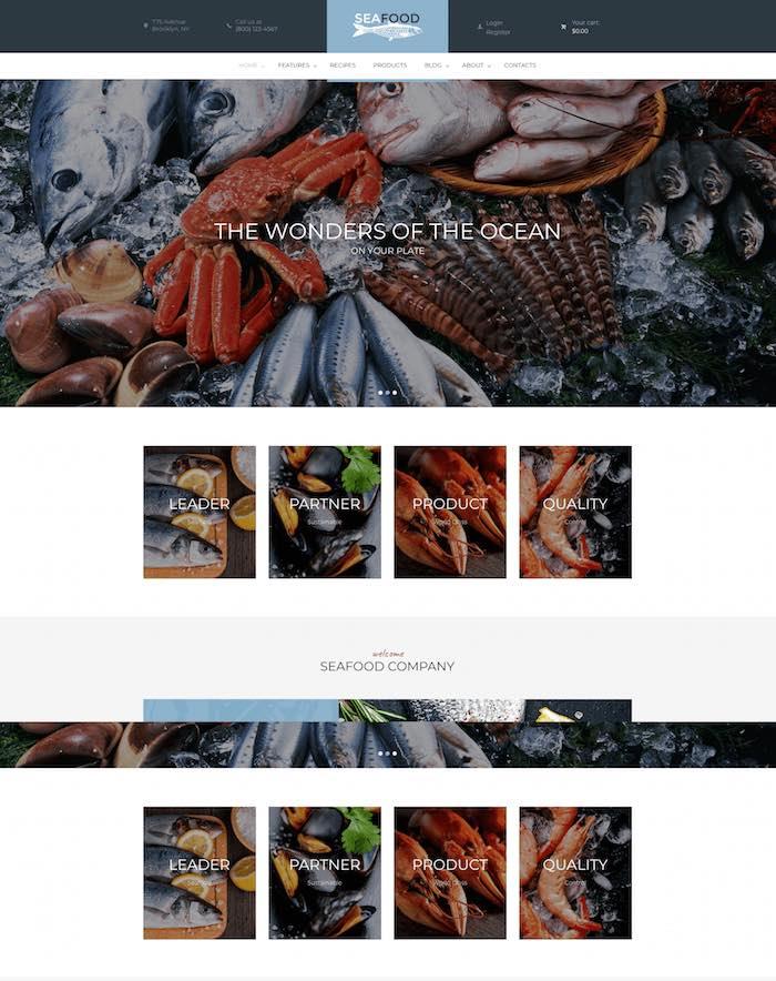 Seafood WordPress Theme