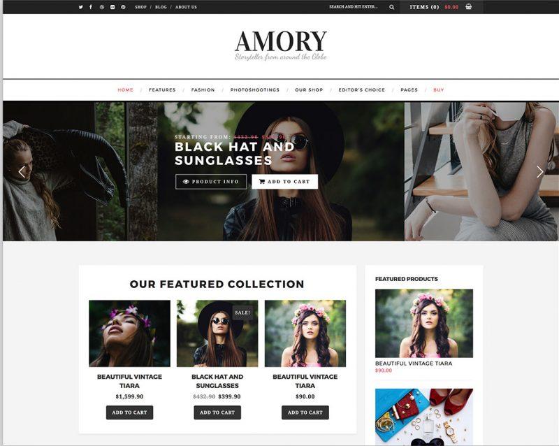 Amory Fashion Theme