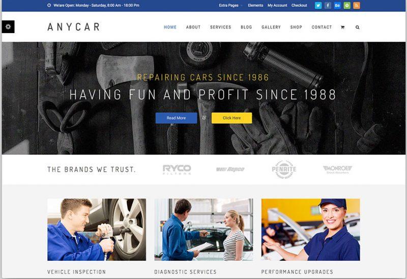 AnyCar WordPress Theme
