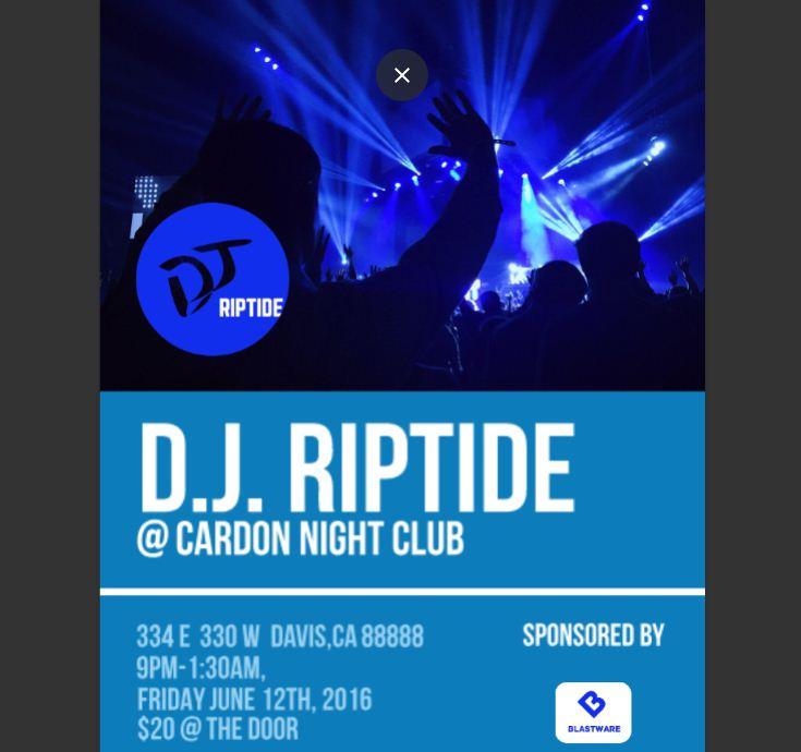 DJ Club Event Flyer Template