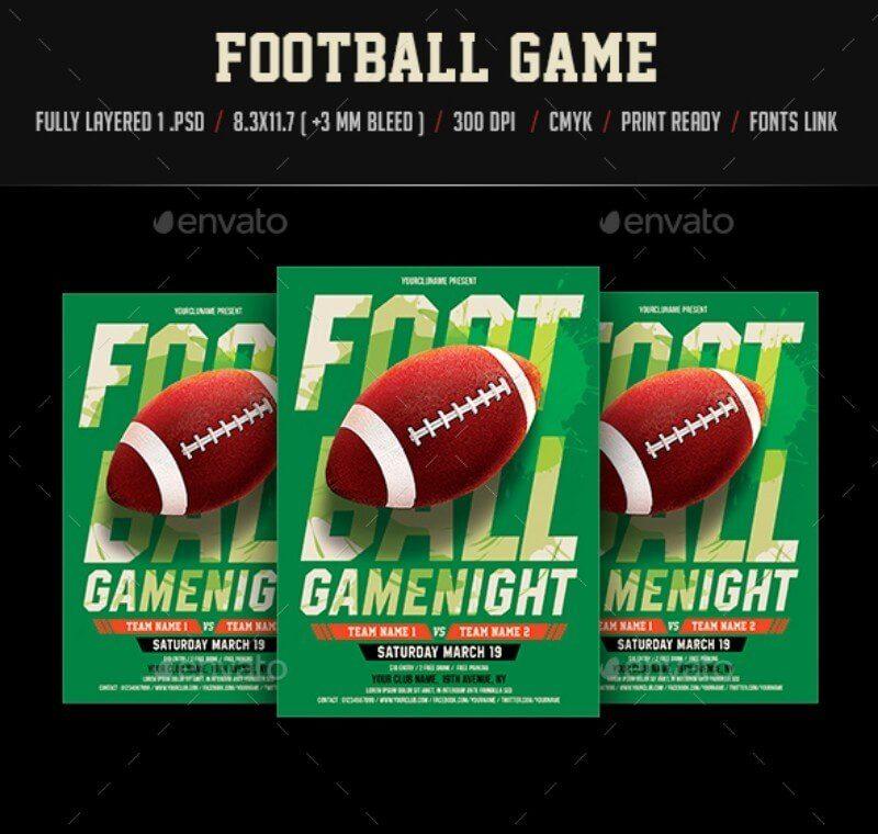 Football game Night flyer