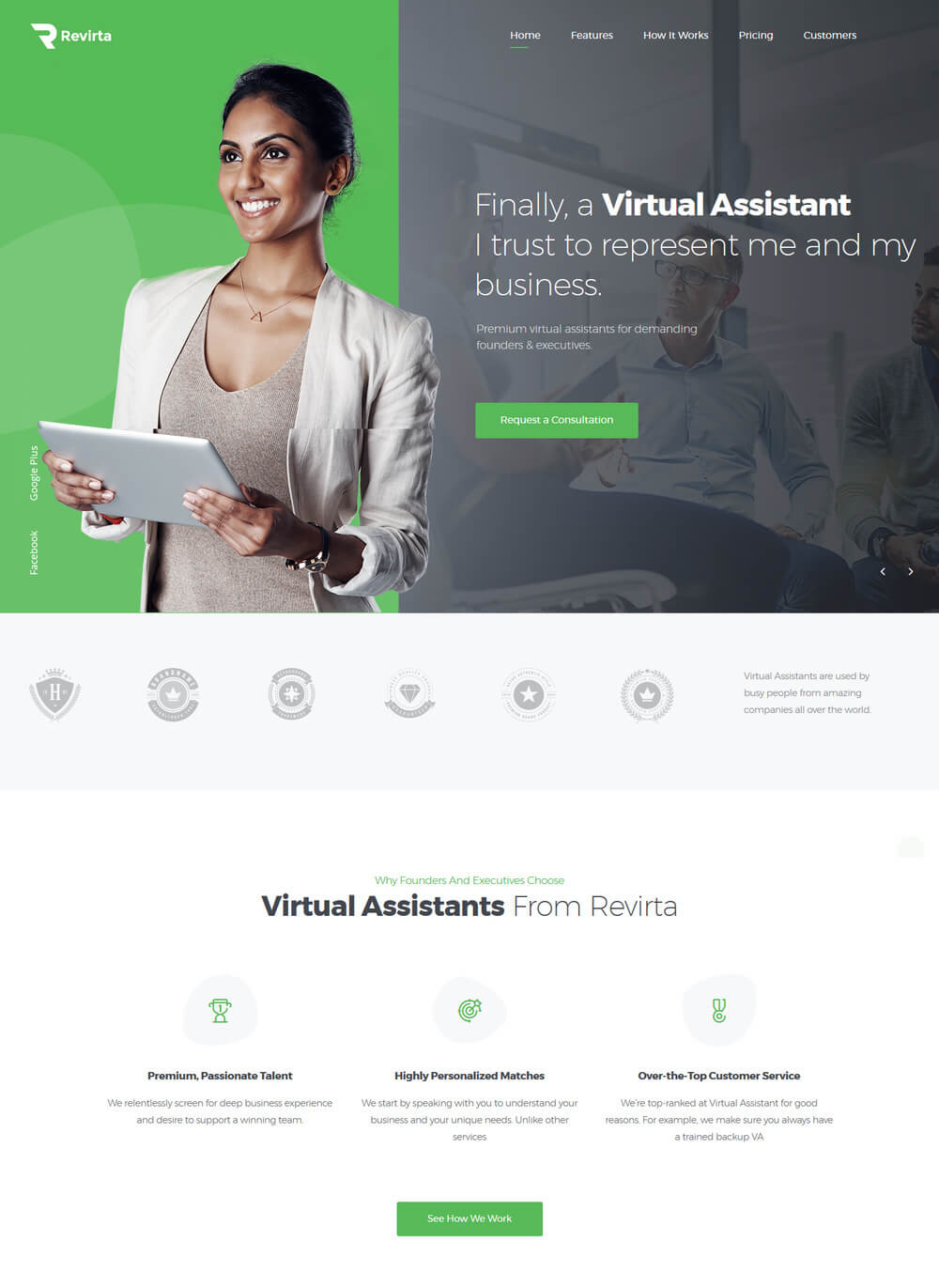revirta-virtual-assistant-wordpress-theme