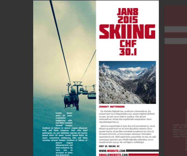 Swiss Alps Company Flyer Template