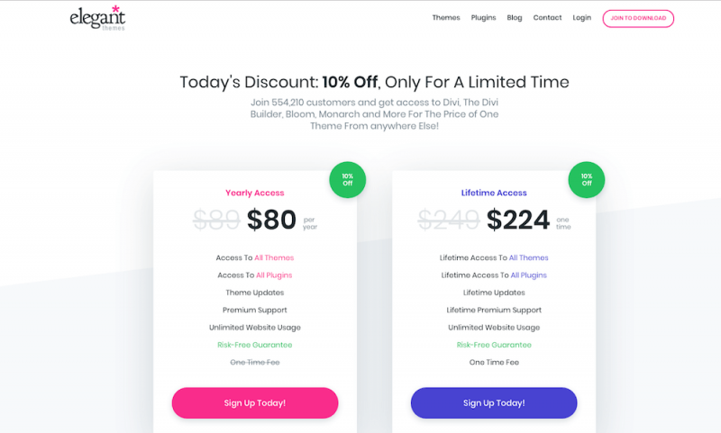 ElegantThemes Lifetime Plan coupon