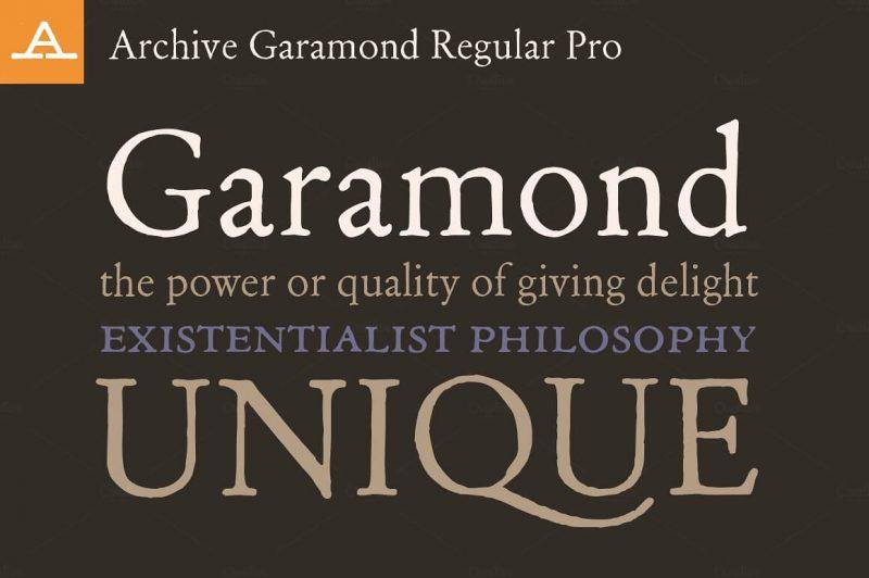 Garamond Regular Pro