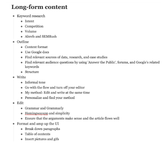 Long-from content