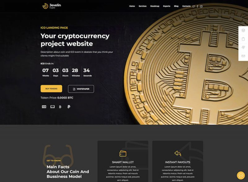 jevelin-best-cryptocurrency-wordpress-site-template
