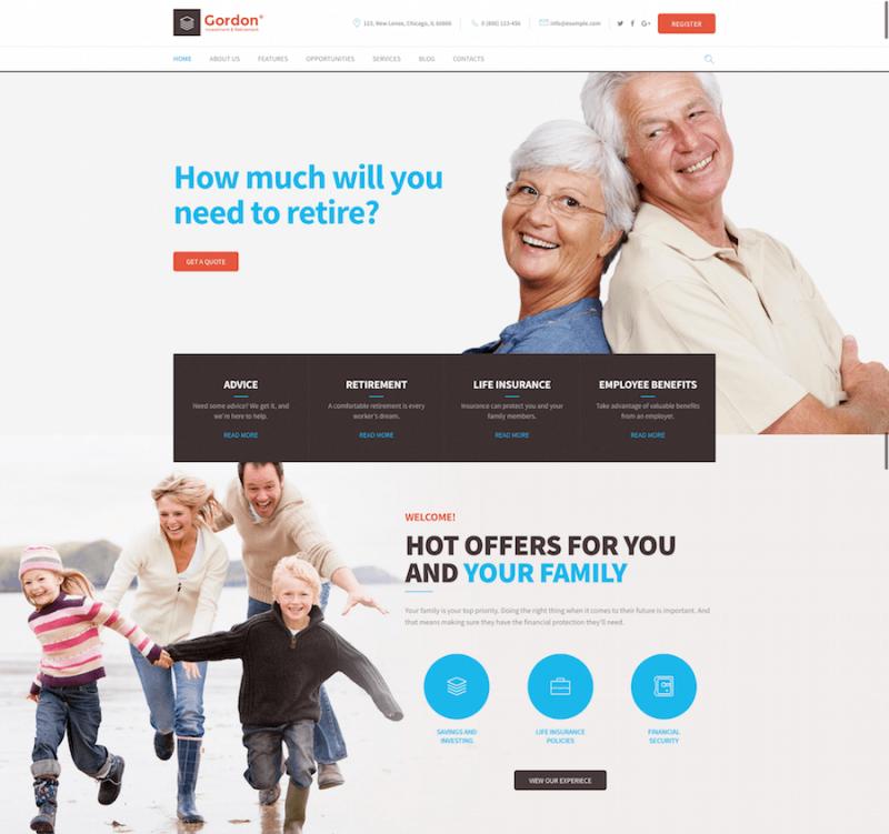 Gordon Investments & Insurance Theme