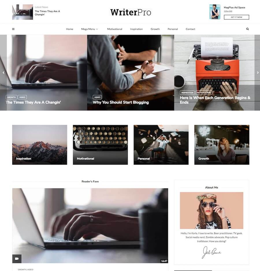 MagPlus Theme for Writers