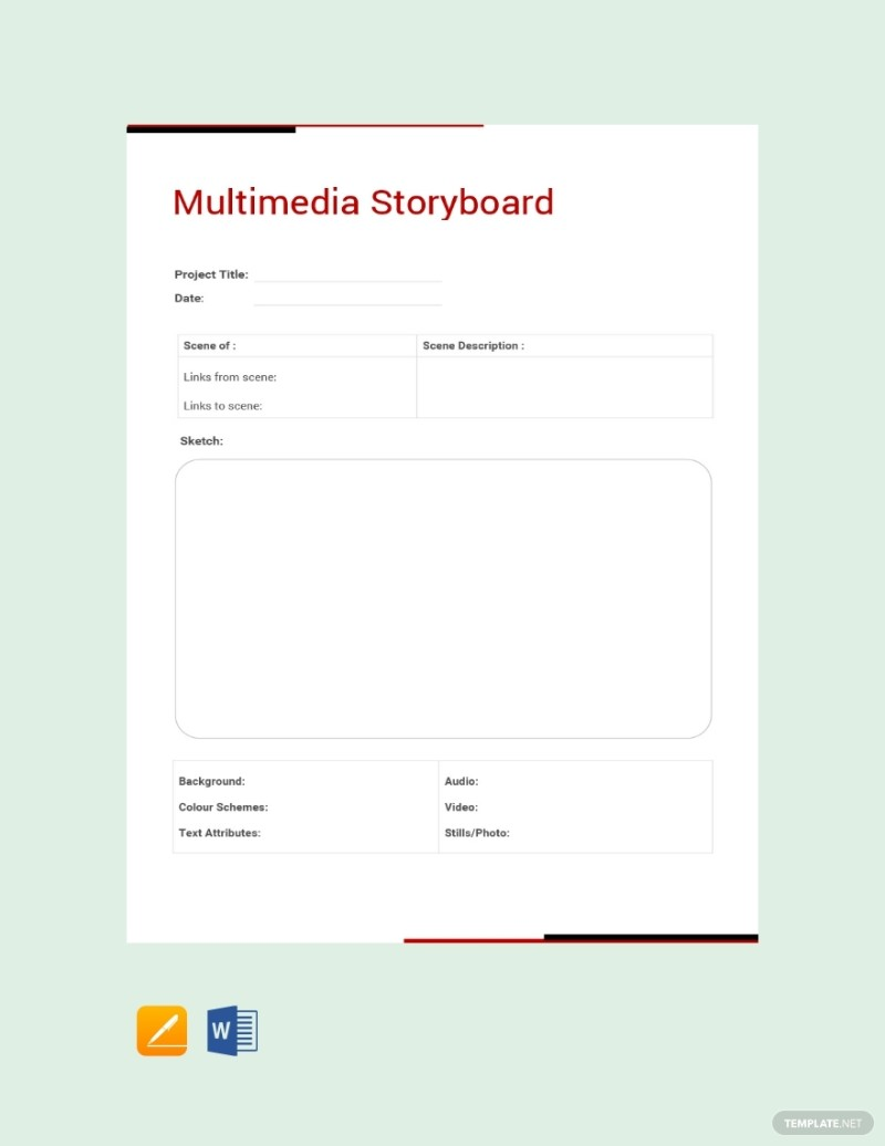 10 Storyboard Template