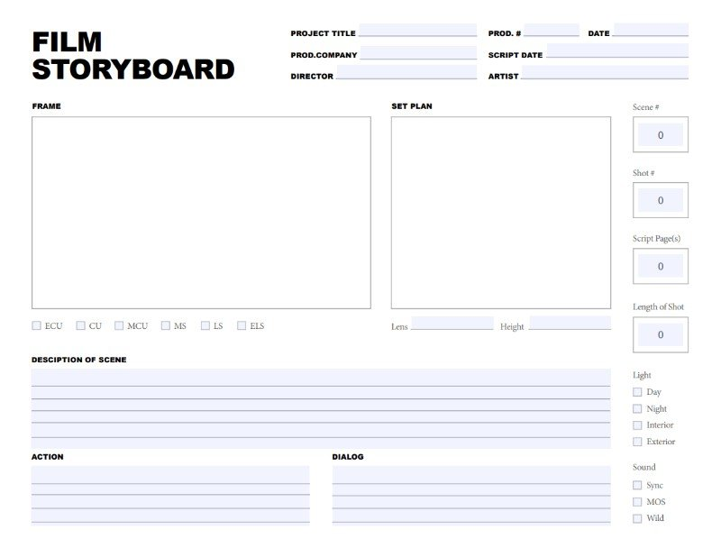 11 Storyboard Template