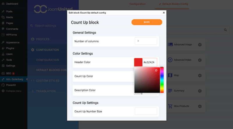 Block Design Settings